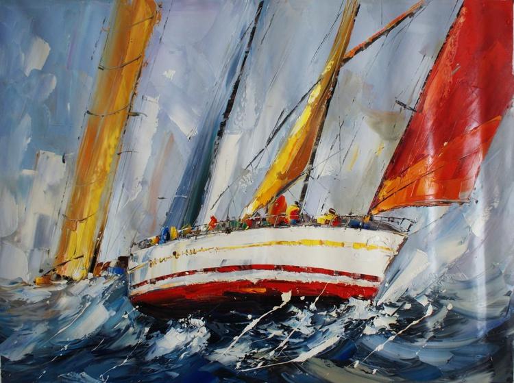 """Abstraction No. 36 """"Ship 2"""" . - Image 0"""