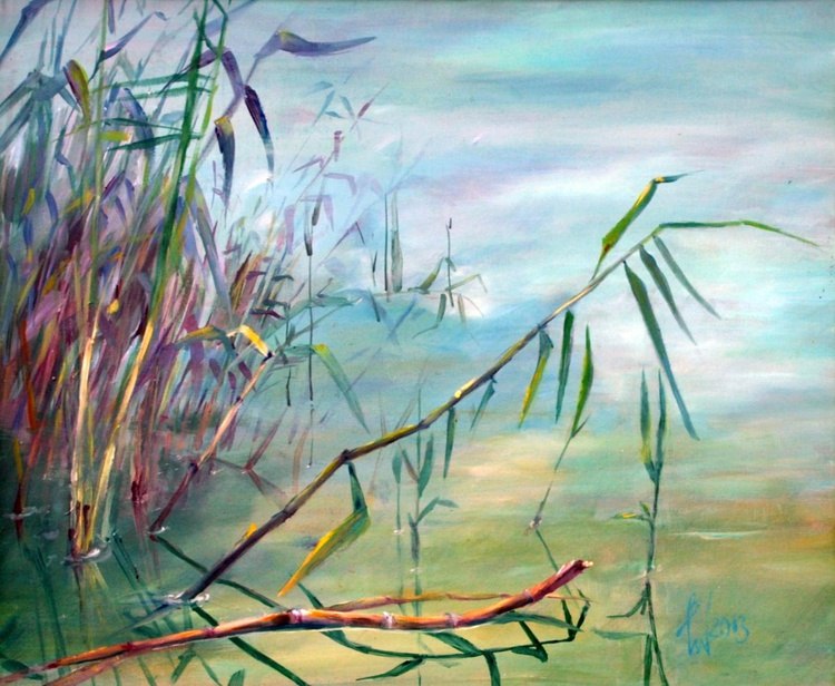 REED  framed oil painting 68X53 - Image 0