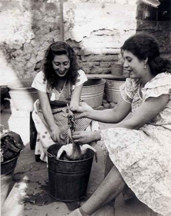 The Rooster, Celia & Judith, c. 1950 * Samuel Gutierrez, Foto Estudio Paris * Ltd Edit. Silver Rag Print #1