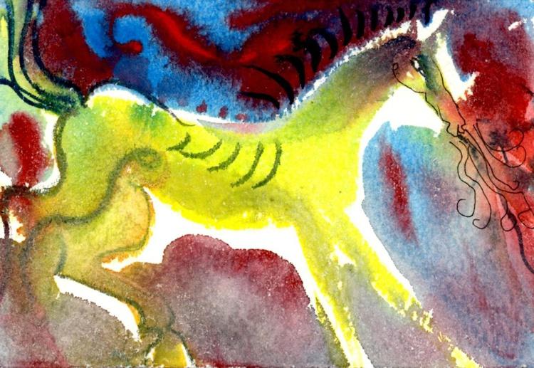 Yellow Horse - Image 0