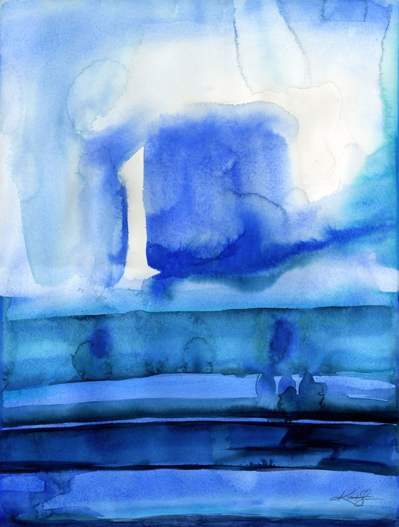 Finding Tranquility 10 - Abstract Zen Watercolor Painting - Image 0