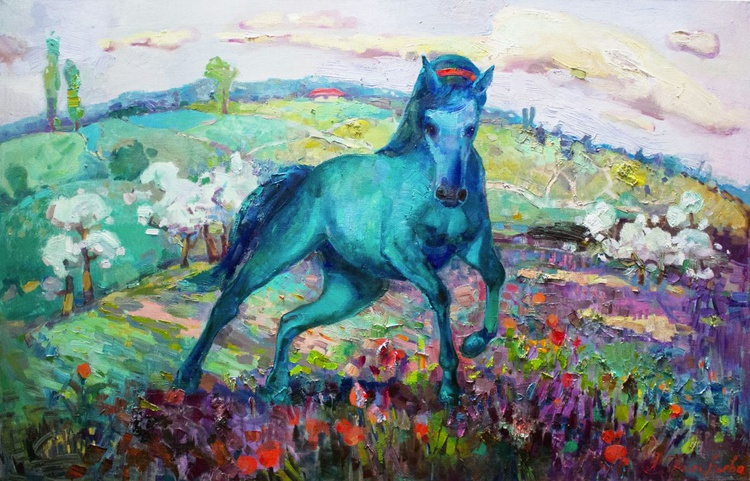 Green horse - Image 0
