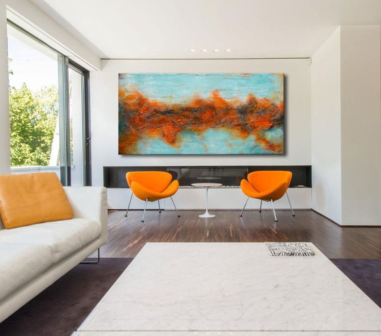 """Timeless dream - Large Abstract Painting 72""""x36"""" - Image 0"""