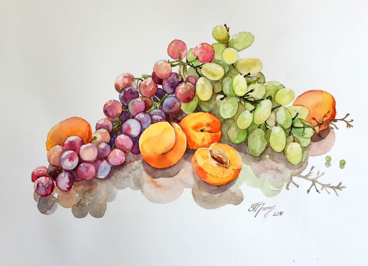 Grapes and apricots - Image 0