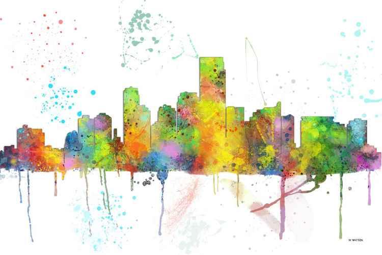 Jersey City, New Jersey Skyline MCLR1 -