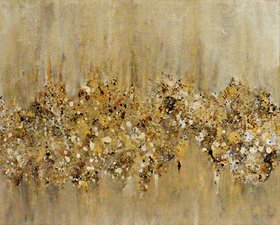 "Golden Foliage // Abstract Impressionism Painting // 8x10"" Canvas by Jessica Sanders"
