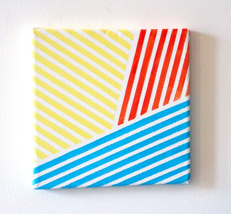 Abstract Stripes 1 Acrylic Painting On Canvas - Image 0