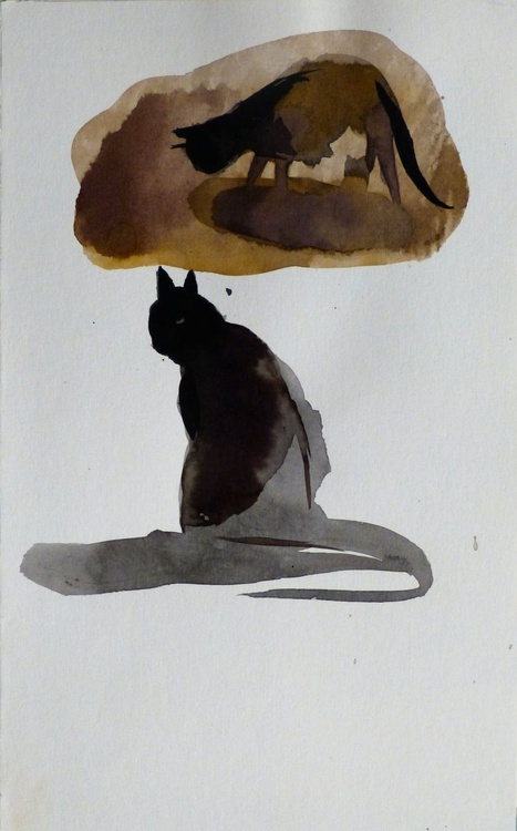 Two Cats, 17x24 cm - Image 0