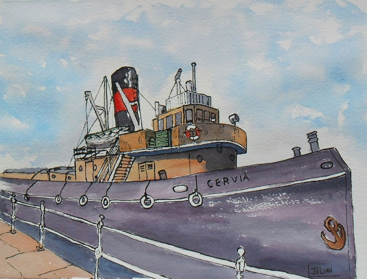 Steam Tug Cervia at Ramsgate Harbour - Image 0
