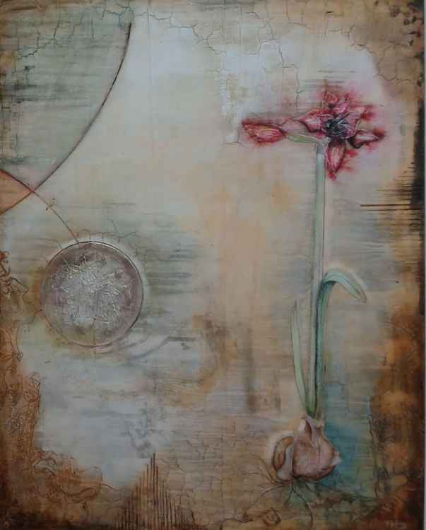 Amaryllis,beauty in my universe,XXLarge painting -