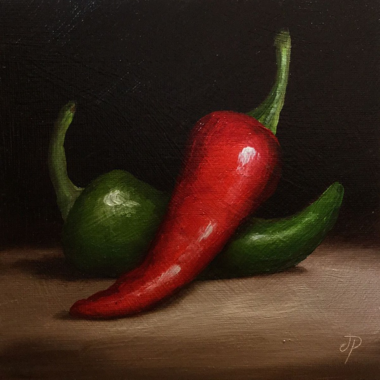 Two Chili peppers - Image 0