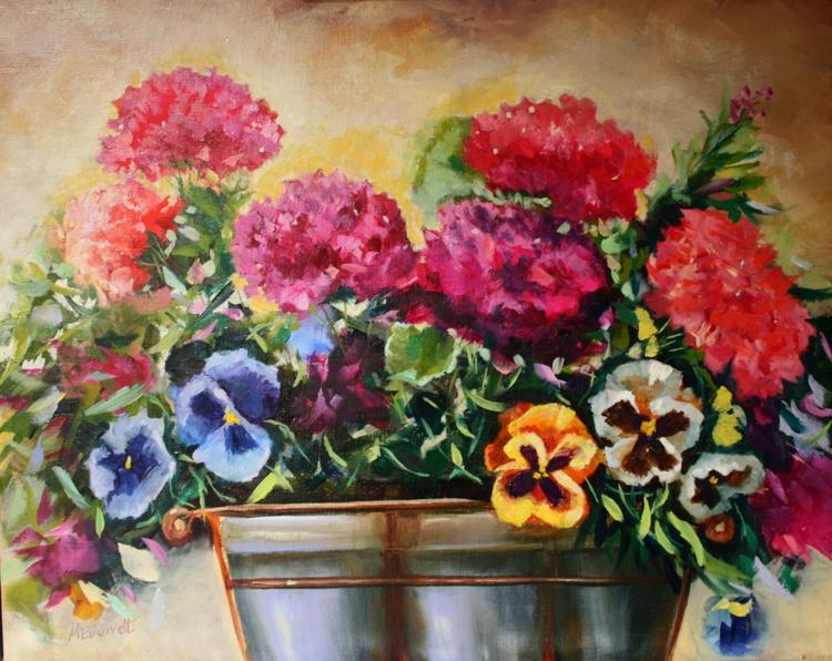 Pansies and Geraniums - Image 0
