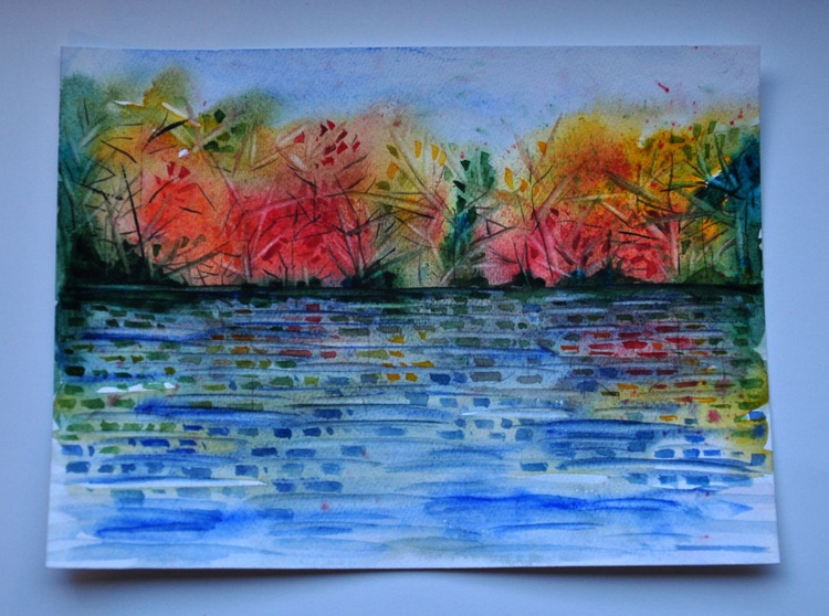 Autumn landscape with the lake - Image 0
