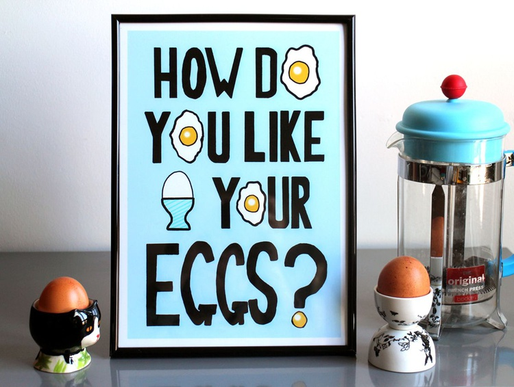 How Do You Like Your Eggs? Digital Art C-Type A4 Print - Image 0