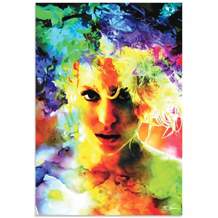Mark Lewis 'Lady Gaga Study' Limited Edition Pop Art Print on Metal - Image 0