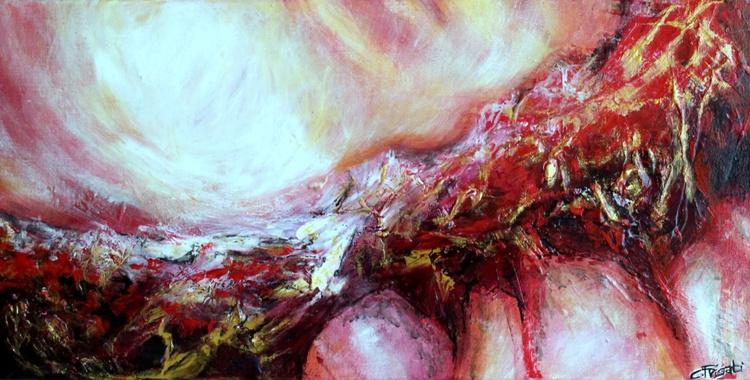 Yukon - original textured abstract painting - Image 0