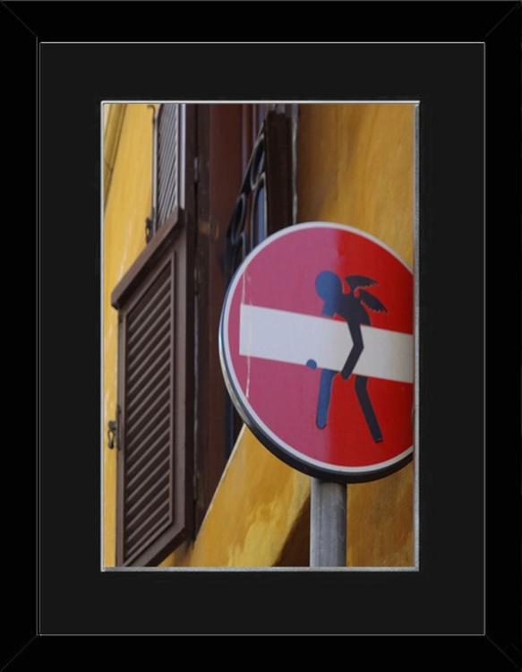 Angel Sign - Florence - Framed - Image 0
