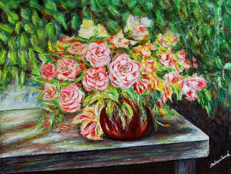 Still life with rose .. - Image 0