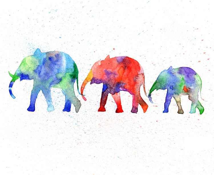 Family Elephant -