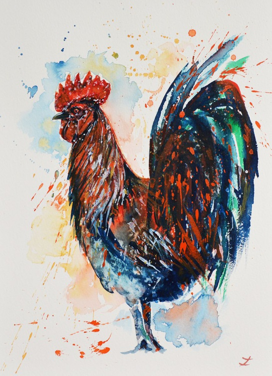 Colorful Rooster - Image 0