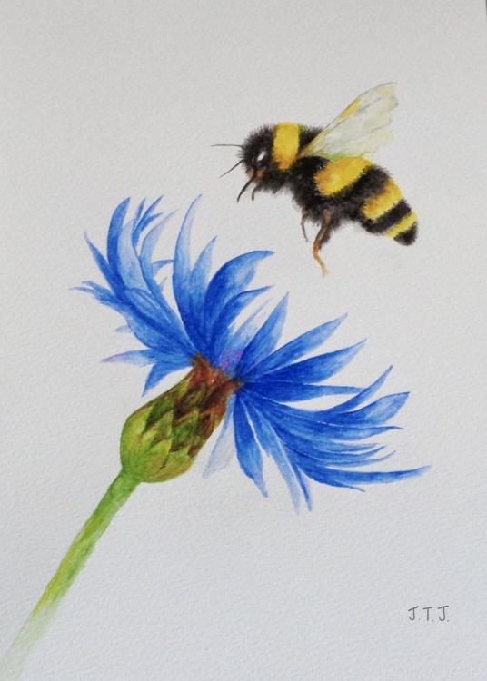 Bumblebee and Cornflower - Image 0