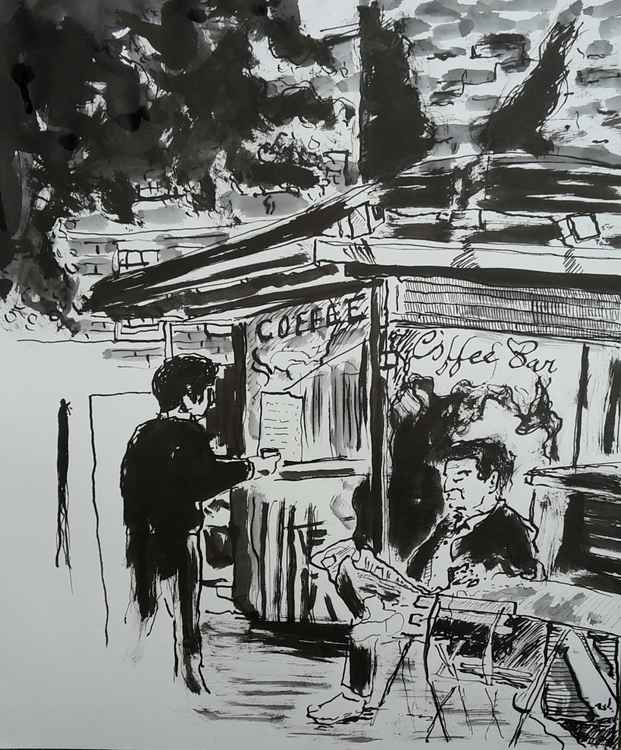 Coffee drinkers, Oxford