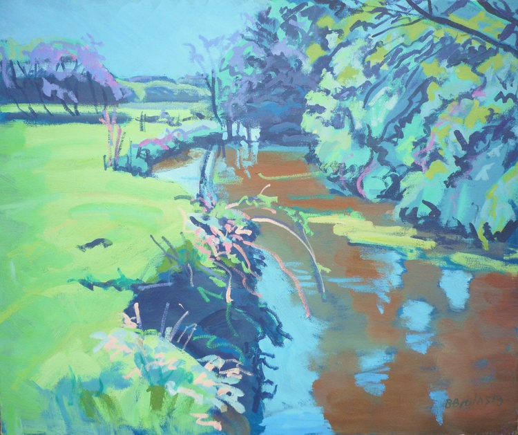 A hot spring day on the river Waldon, near Milton Damerel - Image 0