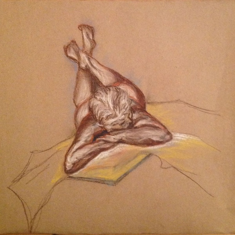 Daydreaming: Female Nude Figure Study in soft colours - Image 0