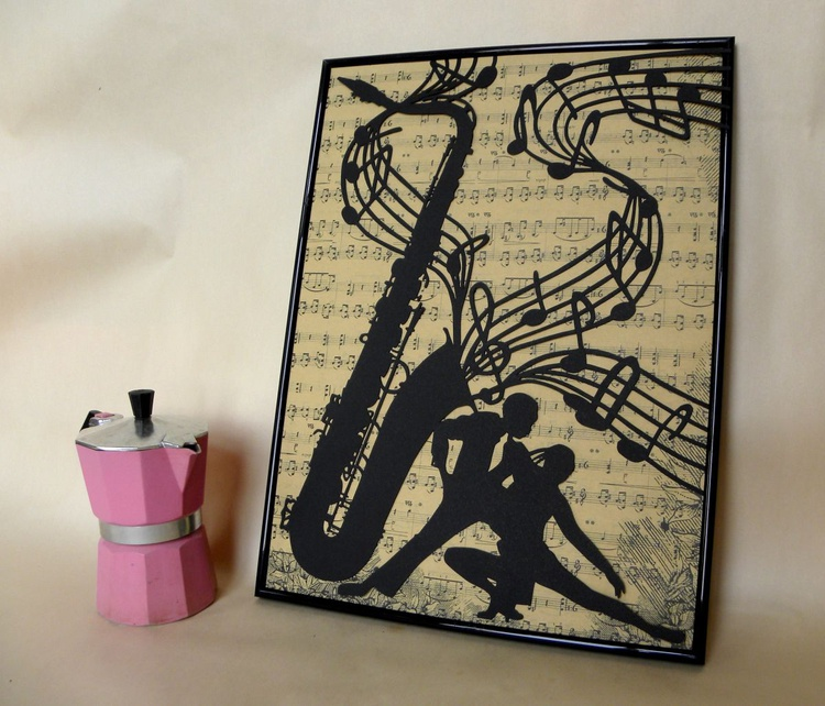 """""""If music would be visible"""" in #3 parts - (papercut) - Image 0"""