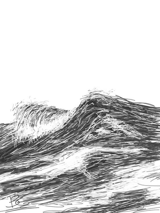 Wave 2 - Drawing - Small