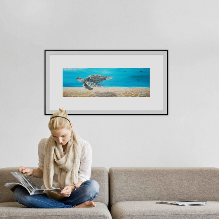 Majestic Sea Turtle - Image 0