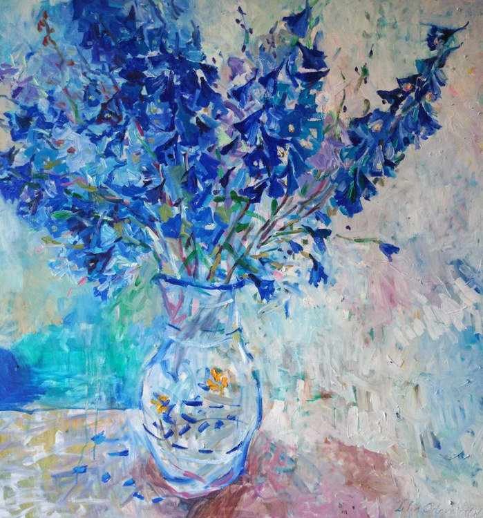 Dreams about blue. 100x100cm - Image 0
