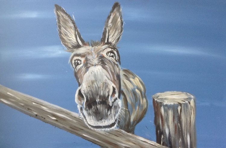 Who Me? 30 x 20 inch Acrylic on box Canvas - Image 0