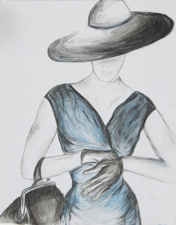 Woman in a Blue Dress - Image 0
