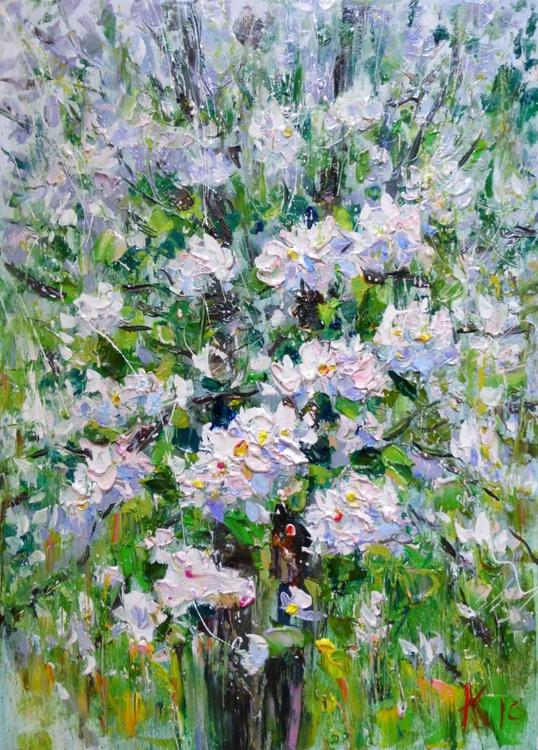 In bloom, oil painting 50x70 cm - Image 0