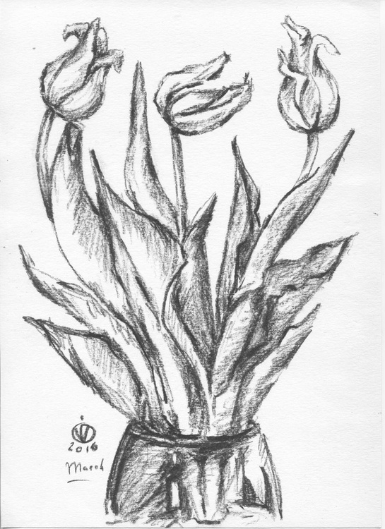 The Last Day Of The Yellow Tulips (sketch) - Image 0