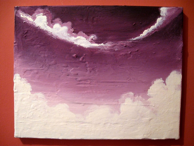 "original abstract landscape ""Cloudbase Alpha"" cloud artwork painting art canvas - - Image 0"