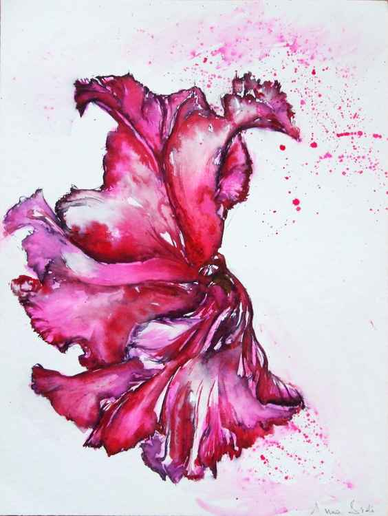 Pink flower / Watercolour