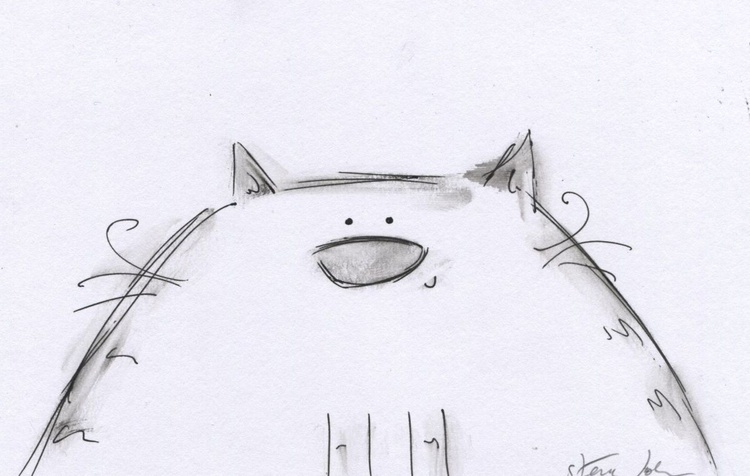 'Chardonnay the Cat' ink outlines - Image 0