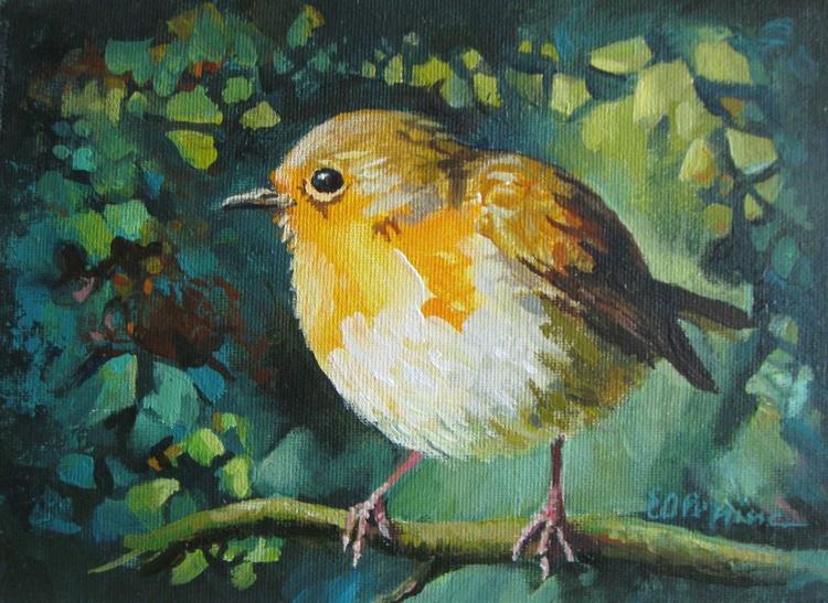 Little robin - framed - Image 0