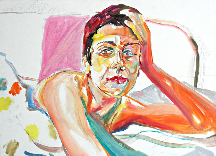 Lady in bed - Image 0