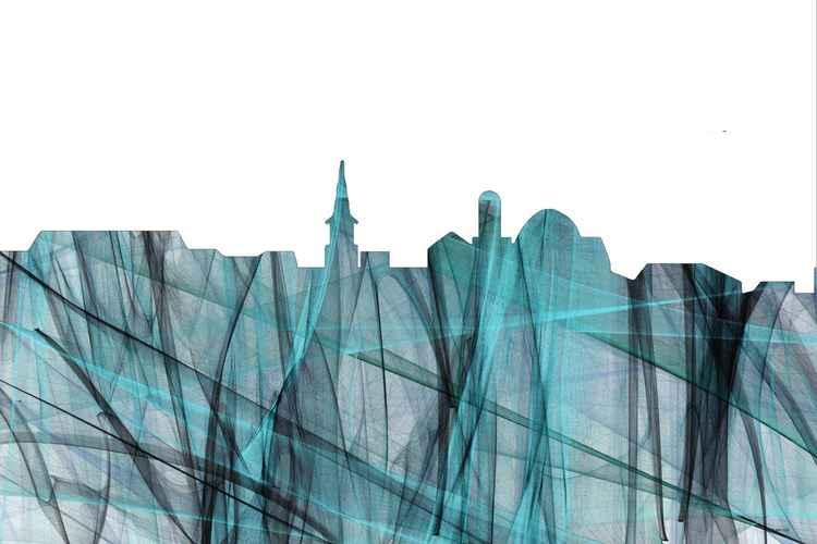 Alexandria, Virginia Skyline - Turquoise Storm -