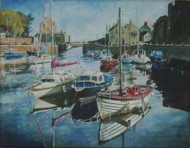 Boats in Castletown Harbour - Isle of Man 2 -