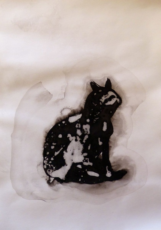 The Leopard Cat 2, ink drawing 29x42 cm - small budget offer - Image 0