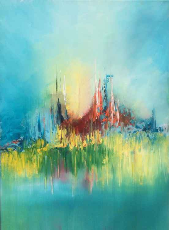Colorful Life   , Acrylic Painting 20x28 inches / 50x70cm -