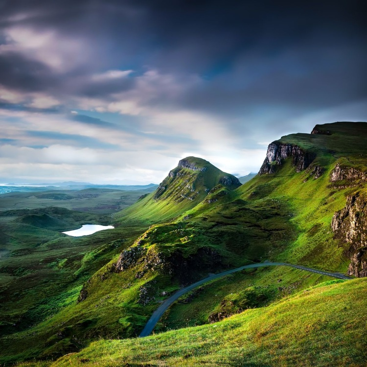 Land of Giants - The Quiraing, Isle of Skye 30 x 30 inches - Ready to hang - Image 0
