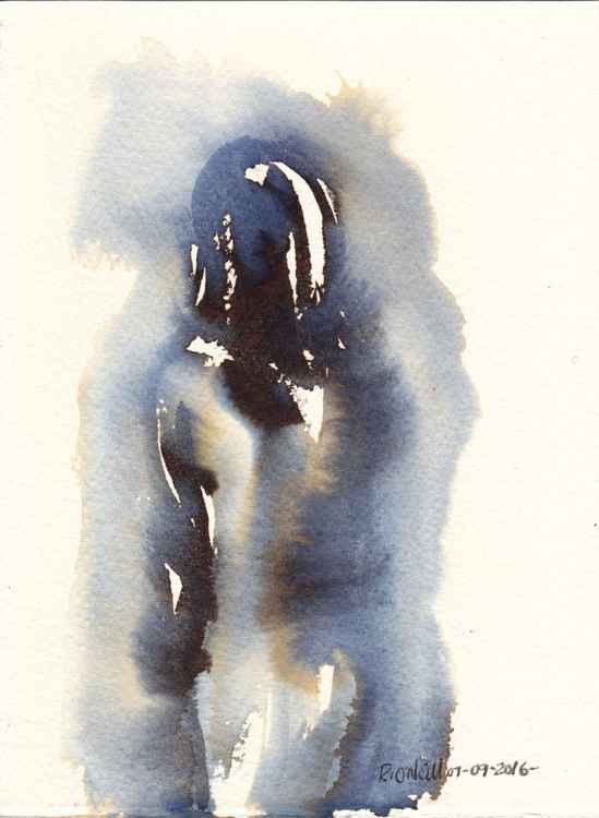 Small standing female nude -