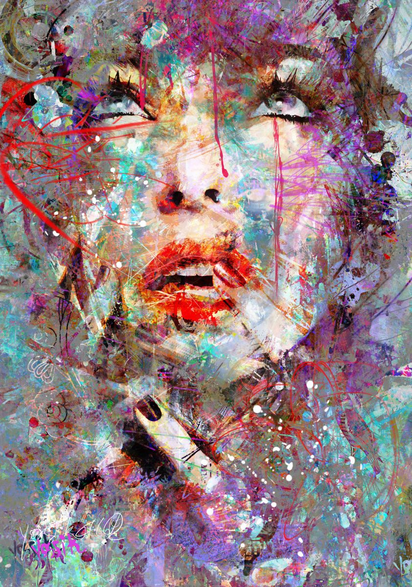 unique bluprint 2016 acrylic painting by yossi kotler