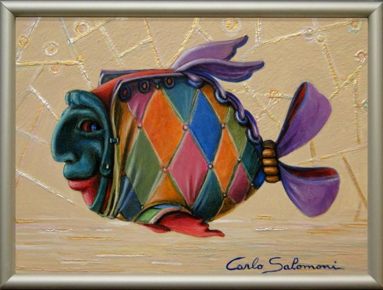 HARLEQUIN FISH - (framed) - Image 0