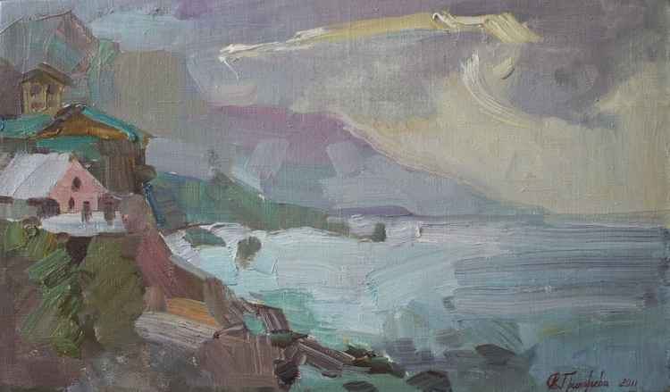 Seascape. Evening in Foros -